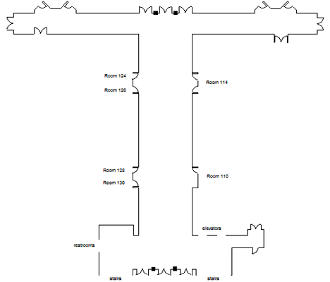 FIU Kovens Conference Center first floor gallery floor plan