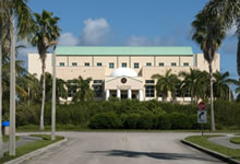 Exterior of FIU's Roz and Cal Kovens Conference Center